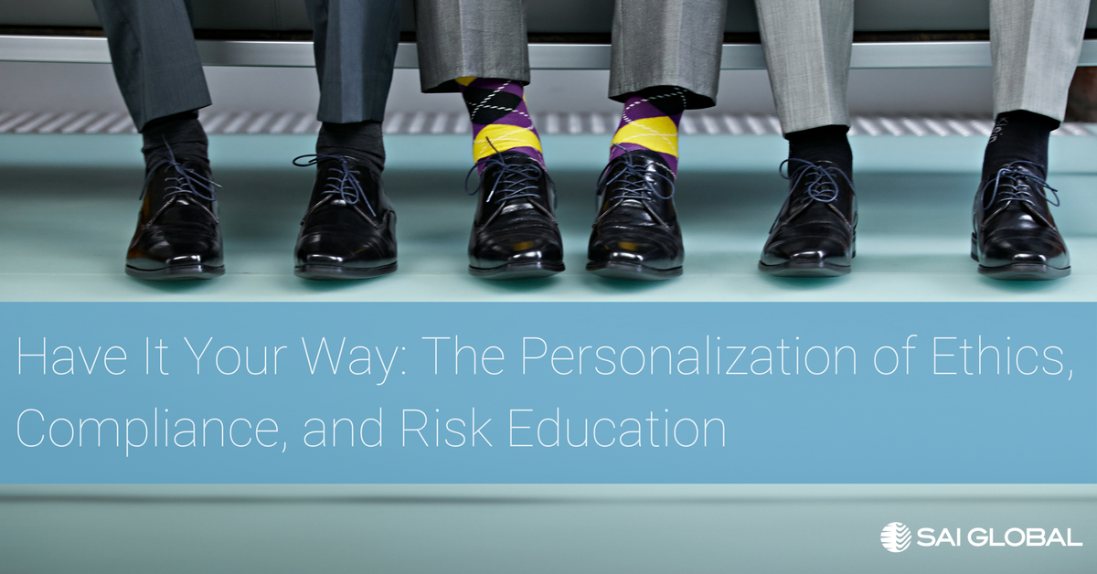 Personalization of Ethics, Compliance, and Risk Education