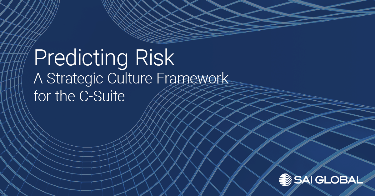 Predicting Risk - A Strategic Culture Framework for the C-Suite