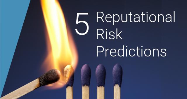 Reputational Risk Management [5 Predictions for 2019] - SAI