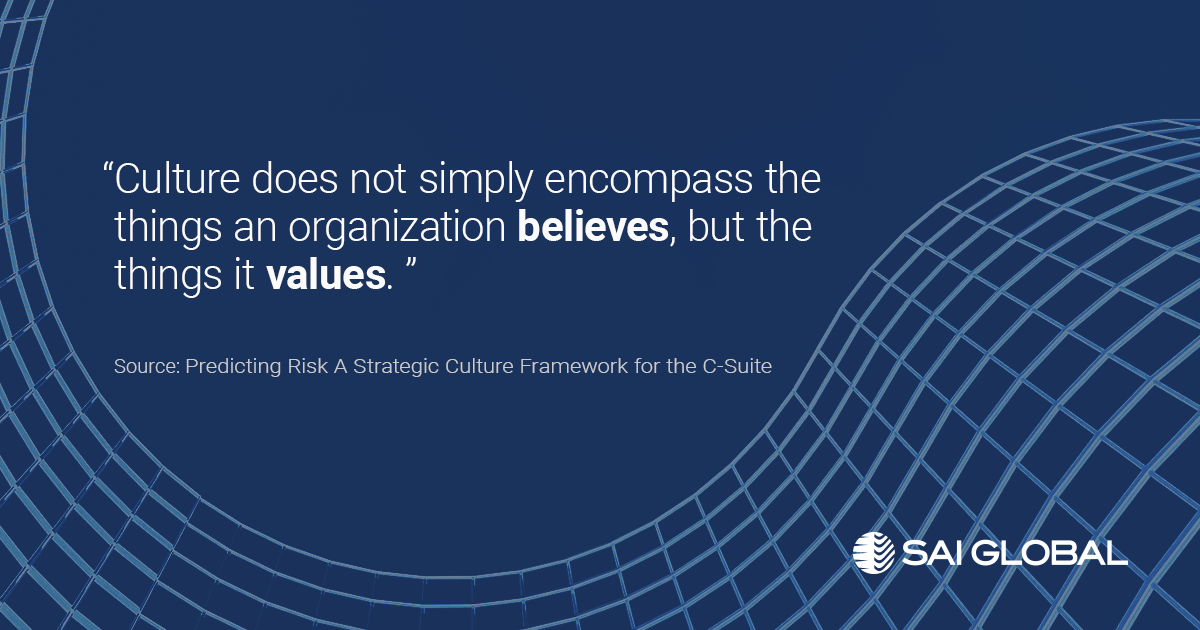 """Culture does not simply encompass the things and organization believes, but the things it values."""