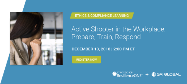 Live Webinar: Active Shooter in the Workplace: Prepare, Train